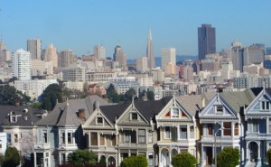 Creative Commons : Rich Shelton. San Francisco, USA rows of Victorian houses