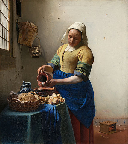 The Milkmaid, Vermeer, c. 1657–1658